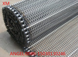 Cinturón de malla de alambre de cinta transportadora espiral / correa de malla transportadora de metal