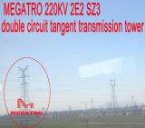 Doppia torretta della trasmissione di tangente del circuito di Megatro 220kv 2e2 Sz3