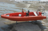 Aqualand 26pies 8m 14personas sólido guardabarros Sponson de espuma EVA Non-Air tubo lleno de fibra de vidrio/Sistema de Patrulla de Rescate inflables rígido Rib en barco a motor (rib800).