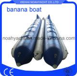 Pescados inflables de la mosca del barco de plátano de los deportes de agua