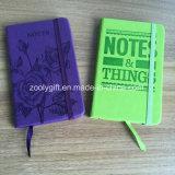 Colorido Programa portátil con banda elástica cuaderno Moleskine