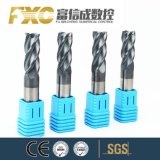 O carboneto de tungsténio fundido de alta qualidade HRC45 4 flautas de CNC fresa