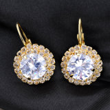 ラインストーンの女の子のイヤリングのあたりでめっきされる方法宝石類の金