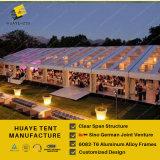 Tissu transparent en PVC étanche tentes tente pour la vente