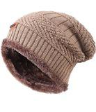 남자의 겨울 뜨개질을 하는 두개골 모자 모직은 베레모 모자를 데운다