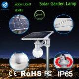 luz solar del jardín del sistema de iluminación de 1800lm 12W LED con el sensor de movimiento