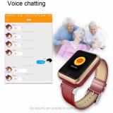 Touch Screen erwachsene GPS-Verfolger-Uhr mit Puls (D28)