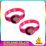 Fördernder empfindlicher Silikonuvwristband, kundenspezifisches lichtempfindliches Armband für Kursteilnehmer
