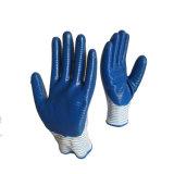 13G Blue Nitrile Zebra Gants de travail personnalisé vrac