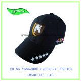 濃紺の美しい刺繍および印刷のスポーツの帽子