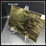 стекло 4mm золотистое желтое декоративное с Rococo типом