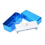 3 Farben-heiße 72 Loch-Aluminiumautoklav-Sterilisator-Kasten Burs zahnmedizinische Desinfektion-Endo Datei-Halter-Kasten für orale Sorgfalt-Hilfsmittel
