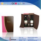 2016 caja de cuero única decorativa decorativa del vino del regalo (5874R3)