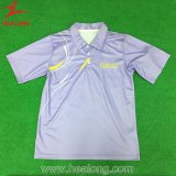 عادة تصميم رياضة لباس تصميد تنس ريشة جرسيّ قميص