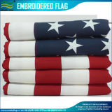 Tela de poliéster Bandera bordada americana 3X5FT (M-NF16F05001)