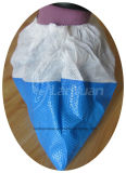 PP+CPE Shoe Cover in White e in Blue