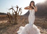 人魚の水晶オーガンザの花嫁衣装のウェディングドレス(BH012)