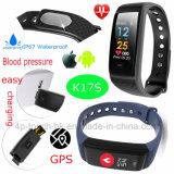 Modieuze Slimme Armband Bluetooth met Echt - de Controle van de Gezondheid van de tijd K17s
