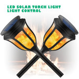 Wireless 96 Jardim Solar de LED de luz com chamas de cintilação