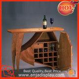 خشبيّة [وين غلسّ] حامل خشبيّة عرض طاولة لأنّ [وين بوتّل]