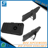 iPhone 10のための軍の堅い携帯電話のホルスターベルトクリップ