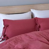 Cubierta colcha edredón suave caso sólido de ropa de cama hipoalergénica