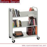 Chariot de livres de bibliothèque de design en métal/Panier des livres de bibliothèque