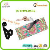 Mat van de Yoga van de douane de Privé Etiket Afgedrukte, Dragende Inbegrepen Houder