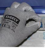 Ладони PU перчаток ESD перчатки белой Coated