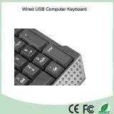 Los claves Ultravioleta-Revestidos durables ataron con alambre el teclado de ordenador (KB-1688)