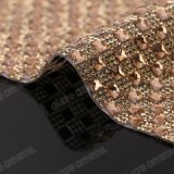 Wholesale Glass Hot Fix Crystal Rhinestone Diamond Mesh Roll for Garment