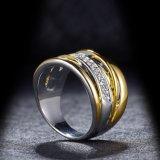 Anel de cristal da cor de imitação da mistura da jóia para mulheres
