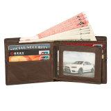 Хорошее качество ручной работы Vintage коричневый кожаный кошелек кредитной карты для мужчин