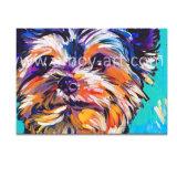 L'huile d'Animaux chien coloré les peintures sur toile