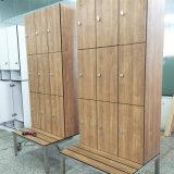ポルトガル9コンパートメントベンチが付いているフェノールの適性のロッカー