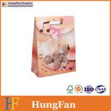 Bolso de papel elegante del regalo del nudo de la cinta/bolso de compras/bolso del conjunto