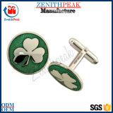 Gemelli su ordinazione del trifoglio di verde del metallo di modo poco costoso