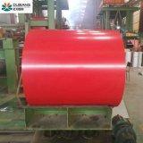 Telhas de aço RAL3009 Prepainted material da bobina de aço