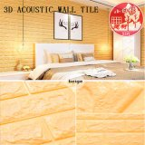 3D de PVC decorativas Autoadhesivas Soundabsorb mosaico para sala de video