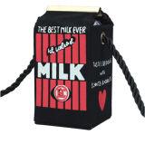 Het leuke Toevallige Mooie Canvas van het Beeldverhaal Dame Shoulder Milk Bag