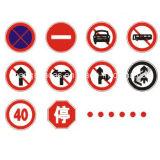 소통량 도로 안전 원형 교통 표지
