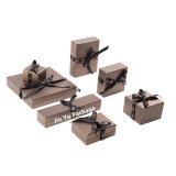 ブランドのカスタム堅いハイエンドペーパーギフトの宝石類包装ボックス製造業者