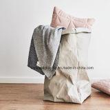 Bolsas de papel de Kraft de las cestas de lavadero de las cestas del papel lavable