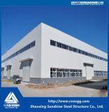 Estructura de acero del marco de acero de la sección de H para el edificio del taller