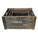 Accueil Consommables stockage Organisateur 4 morceaux de bois de la Caisse de boîtes de Jardin Garage de cuisine