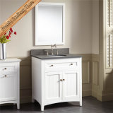 Fed-347A vaidade brancas modernas do banheiro do armário de banheiro do hotel da madeira contínua de um projeto novo de 30 polegadas