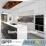 Pedra branca de Nautral de quartzo para a bancada da cozinha no projeto da casa