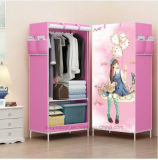 Reinforced Folding Cloth Wardrobe Easy Cloth Steel Frame Single Cloth Wardrobe Storage Assembly Folding (FW-30)의 옷장 Combination