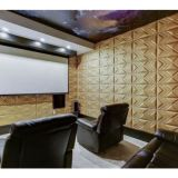 Panneau mural en cuir 3D de matériau Sound-Absorption pour Home Cinéma