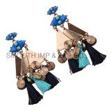 Triángulo Vintage Bohemia Metal borlas de joyas de diamantes aretes de regalo Accesorios